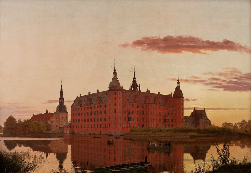Christen Købke - Frederiksborg Slot set fra Jægerbakken. Aften (1835)