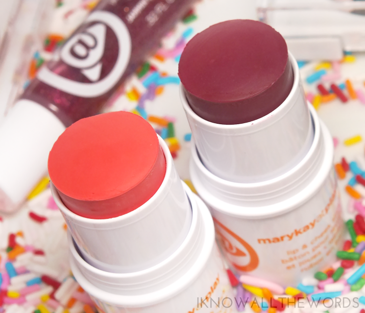 mary kay at play 2015 lip & cheek stick in peach pop and razzleberry (2)