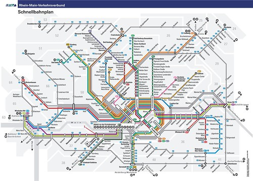 Subway Map Frankfurt