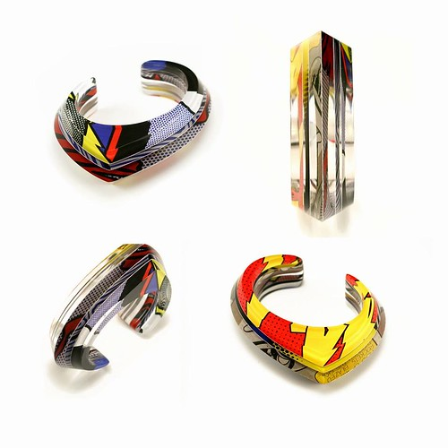 Layered Acrylic Cuff Bracelet by Jennifer Merchant