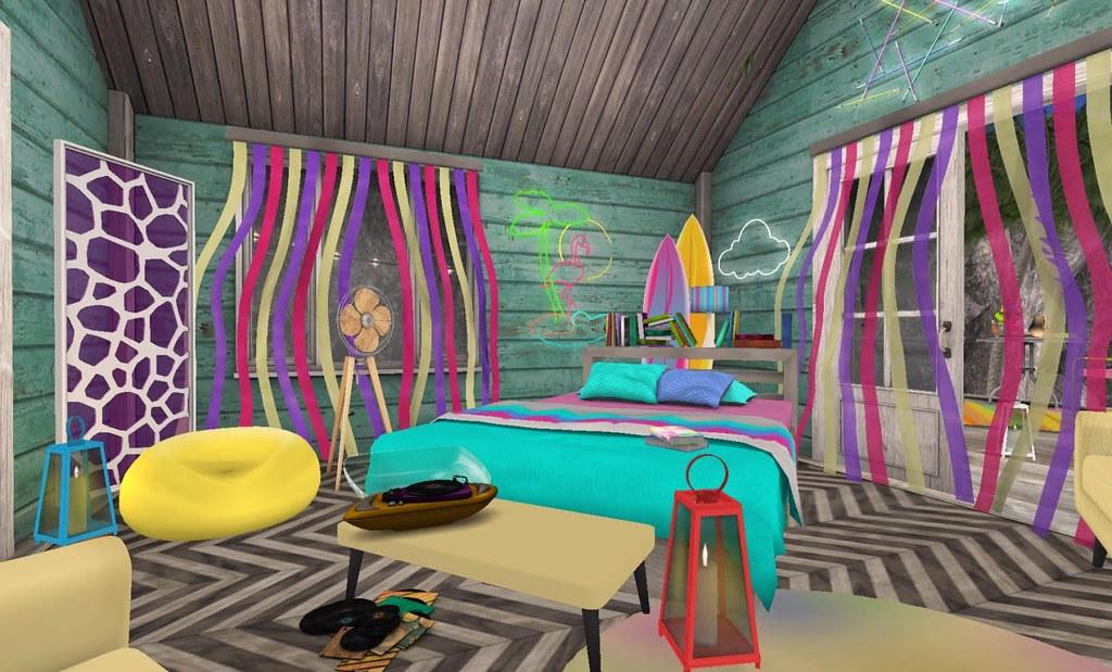 Fiesta Beach Shack  Sway s 80 s Bedroom   by Hidden Gems in Second Life   Interior. Fiesta Beach Shack  Sway s 80 s Bedroom   gloriasilverstone     Flickr