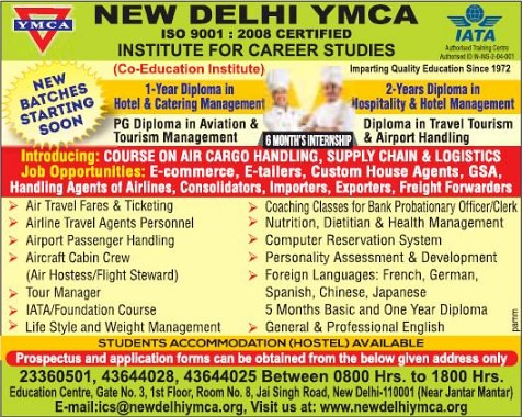 Ymca Admissions 2018 Courses Offered