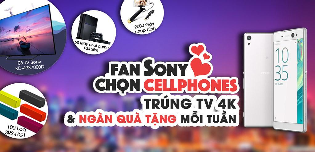Mua Sony Xperia, trúng TV 4K mỗi tuần cùng CellphoneS