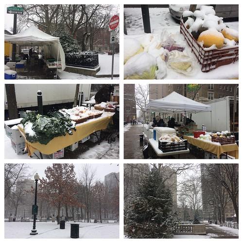 Snowy farmers' market