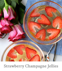 Strawberry Champagne Jellies