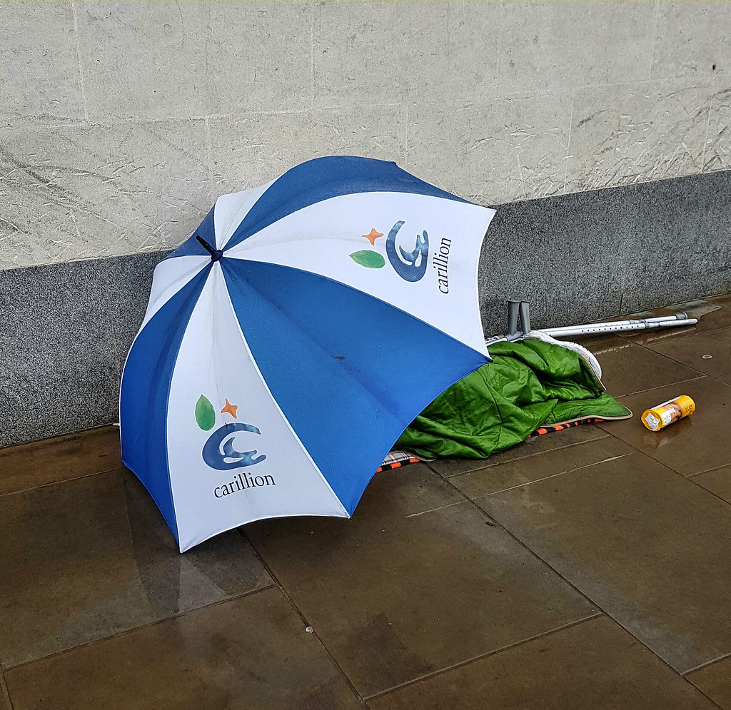 Homeless In The Rain   Outside the Said Business School ...