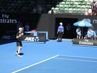 Andy Murray -- Warm-up