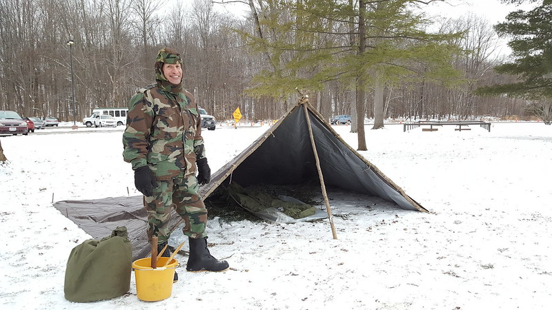 Winter Shelter by Ashley Hall, Naturalist, Rocky River Nature Center