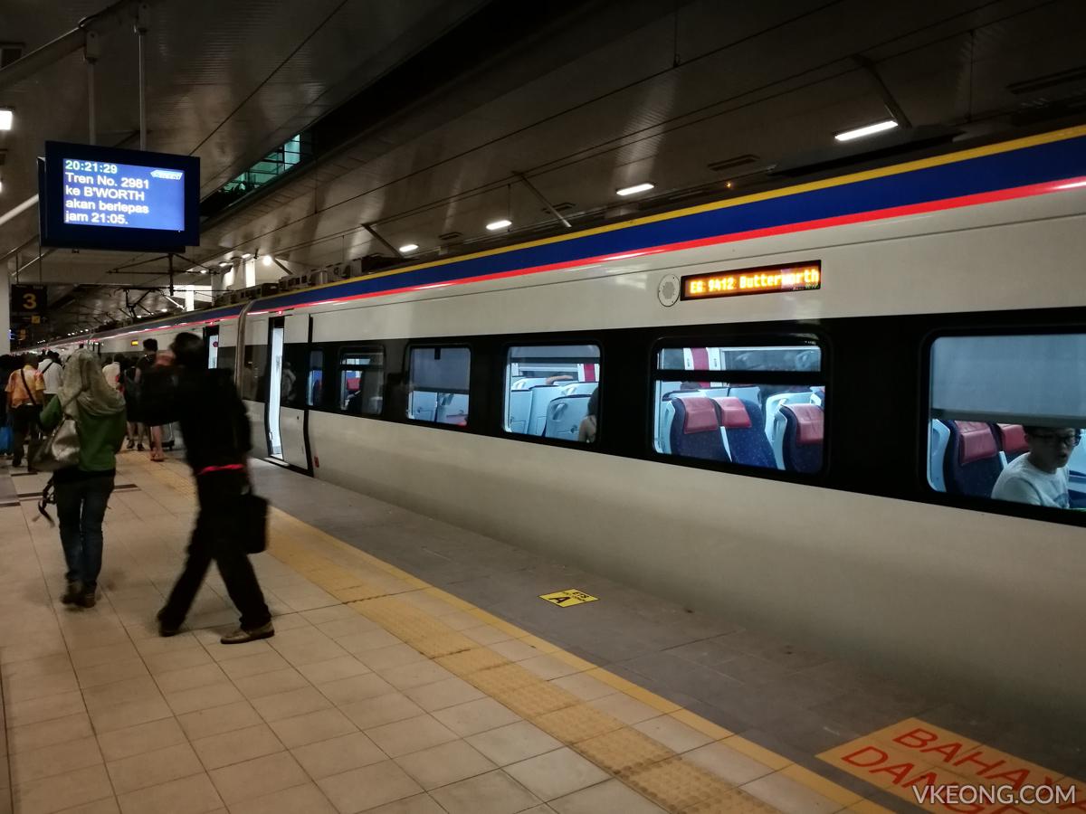 ETS Arrive Bukit Mertajam Station