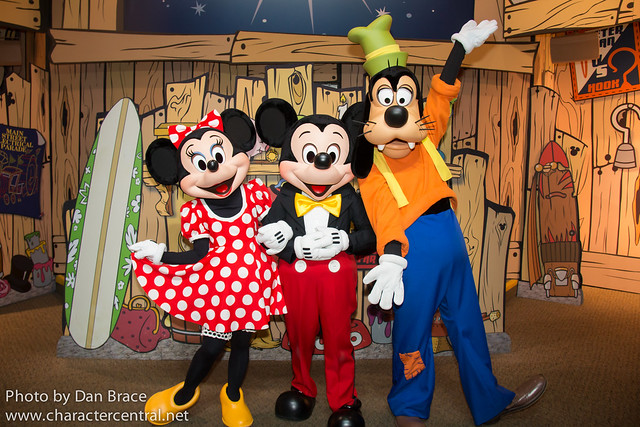 Minnie, Mickey and Goofy