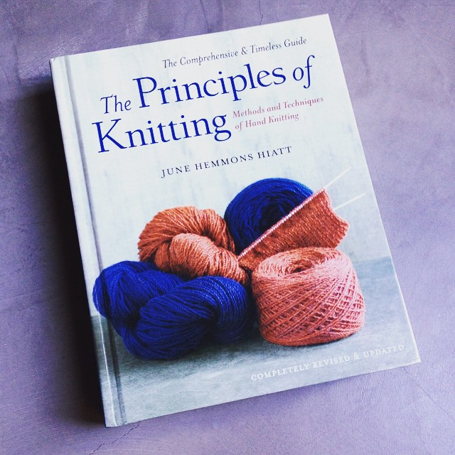 """The principles of knitting"", the #knitting bible. Writing up a review of sorts to be posted tomorrow on my blog (or in your mailbox if you're a subscriber)"