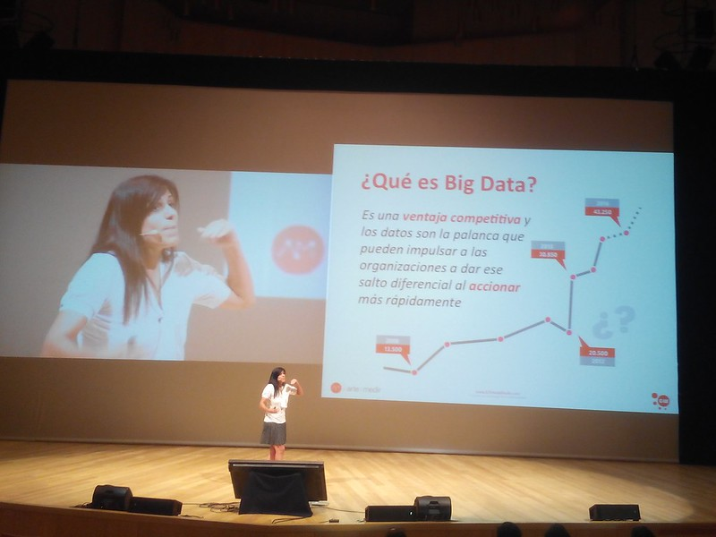 Gemma Muñoz hablando del Big Data como ventaja competitiva