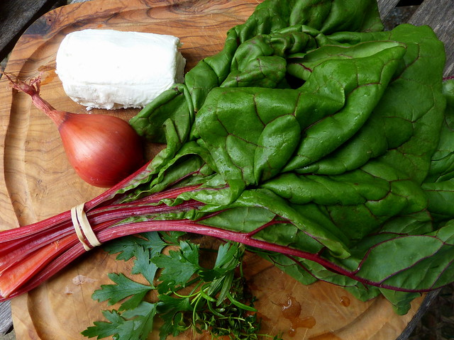 Chard, Shallott and Goat Cheese