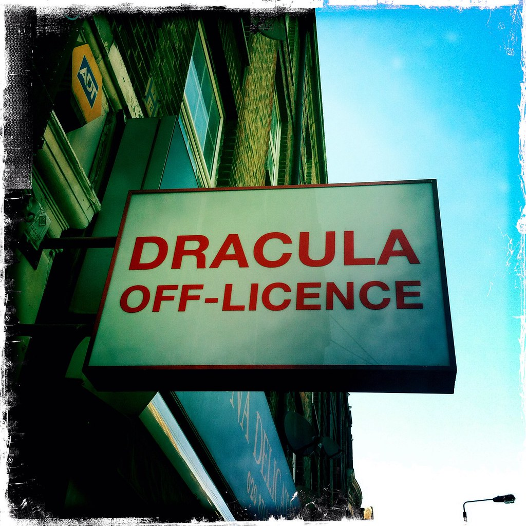 Dracula is Alive Well Running an Off-Licence in Streatham Hill