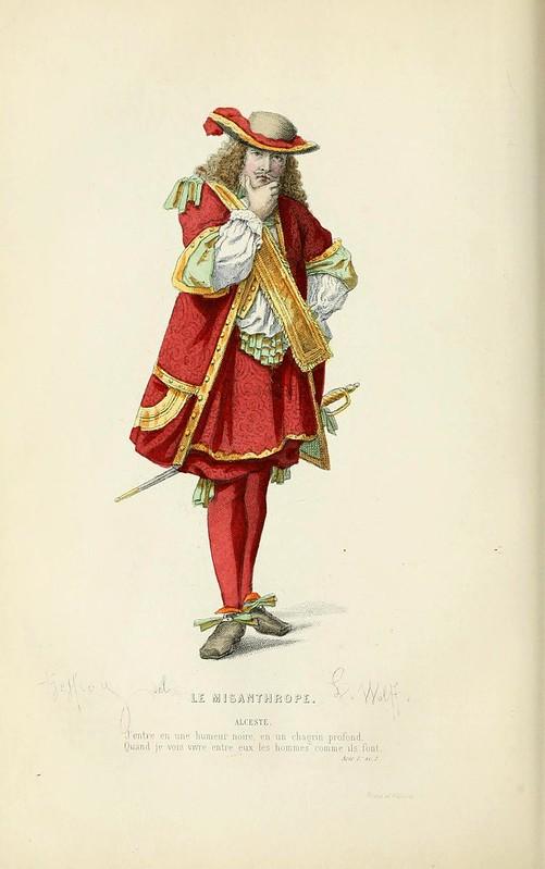 008- El misantropo -Oeuvres completes ornee de portraits en pied colories…1871- Moliere
