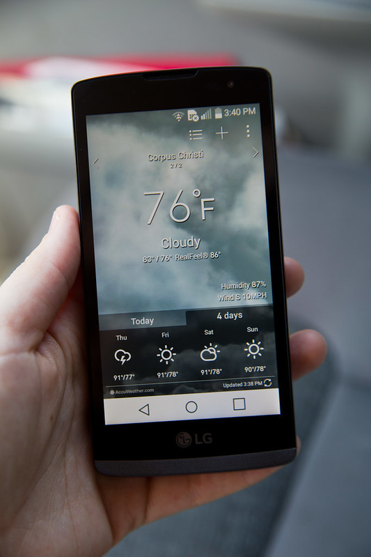 Weather App on LG Leon
