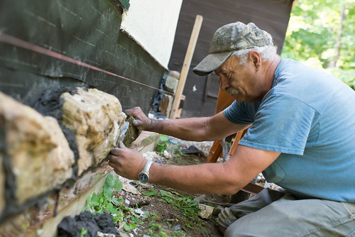 Pete the Mason Adjusting Stone | by goingslowly