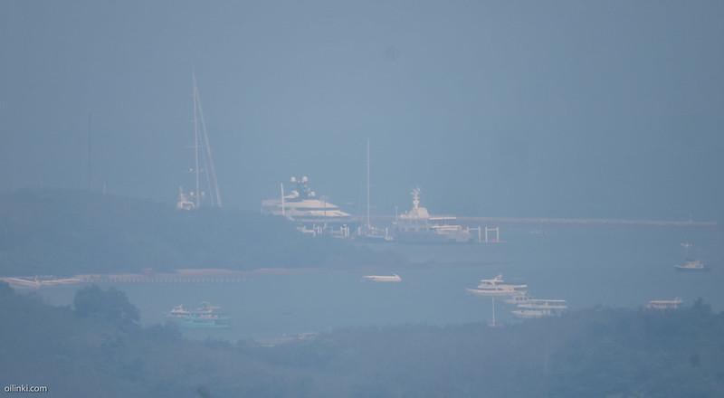 Smog covers Phuket Thailand in December 2016
