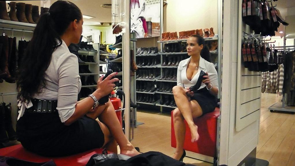 Milf In Shoe Shop