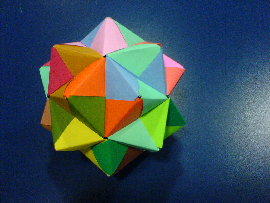 origami stellated icosahedron i made this when i should