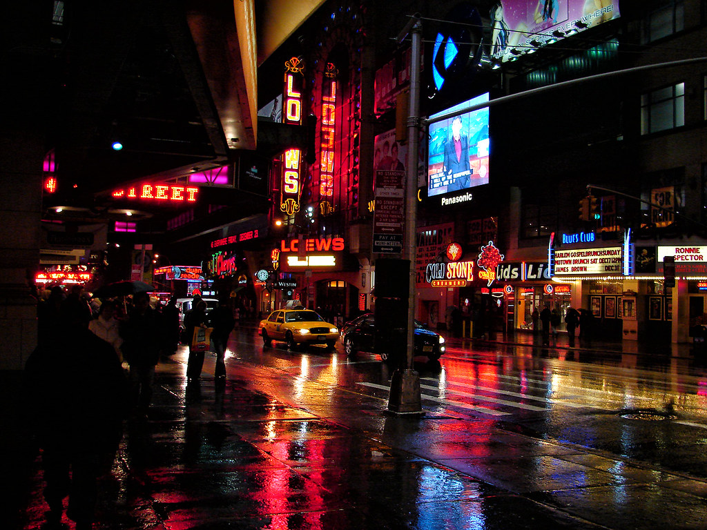 [2005] West 42nd Street... | A rainy day in front of ...