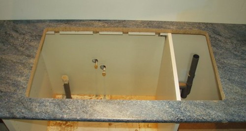 Kitchen sink cut out | Hole for a kitchen sink detailed on