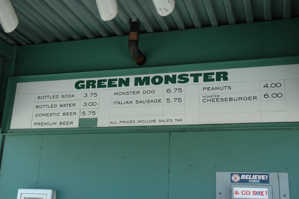 Fenway Park Food Prices