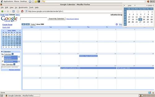 google calendar google calendar displayed in mozilla firef flickr. Black Bedroom Furniture Sets. Home Design Ideas