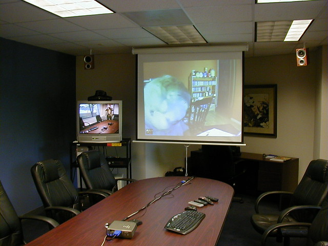 Skype Video Conference Room From A Series Of Photos