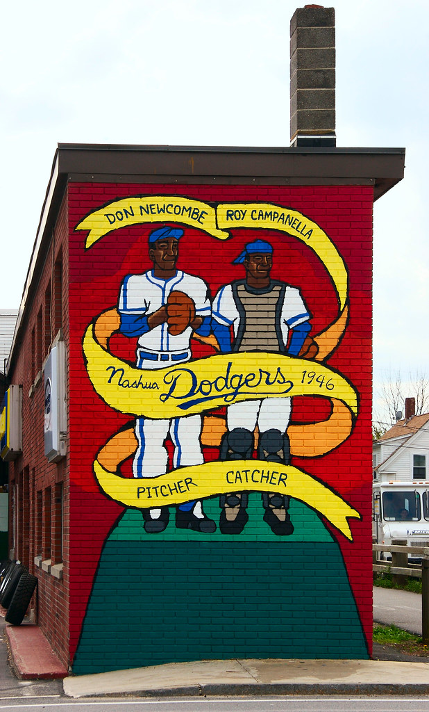 Nashua Dodgers 1946 Mural | Nashua is one of the lucky areas… | Flickr