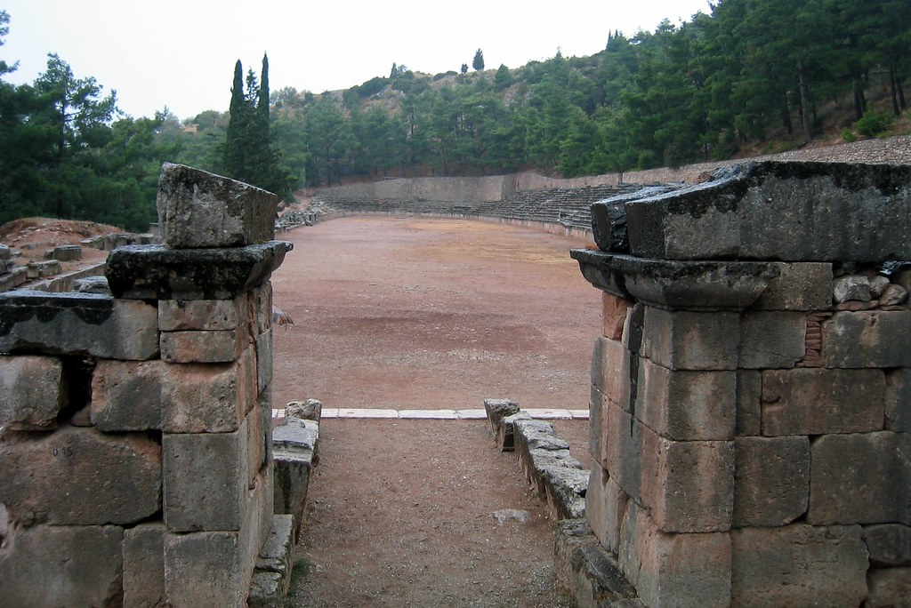 Greece - Delphi: Stadion - Starting Line | The Ancient ...