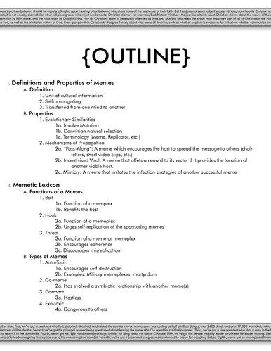 How to create an outline for writing a book