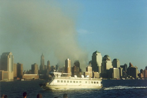September 12, 2001 | The view on 9-12 from Hoboken's Pier ... American Airlines