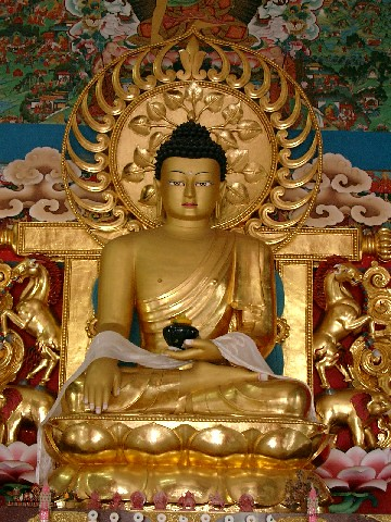 golden Buddha in Stupa, India 2006 | by photos4dreams