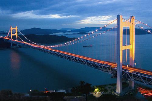 Shimotsui seto Bridge  Japan   Shimotsui seto    suspension