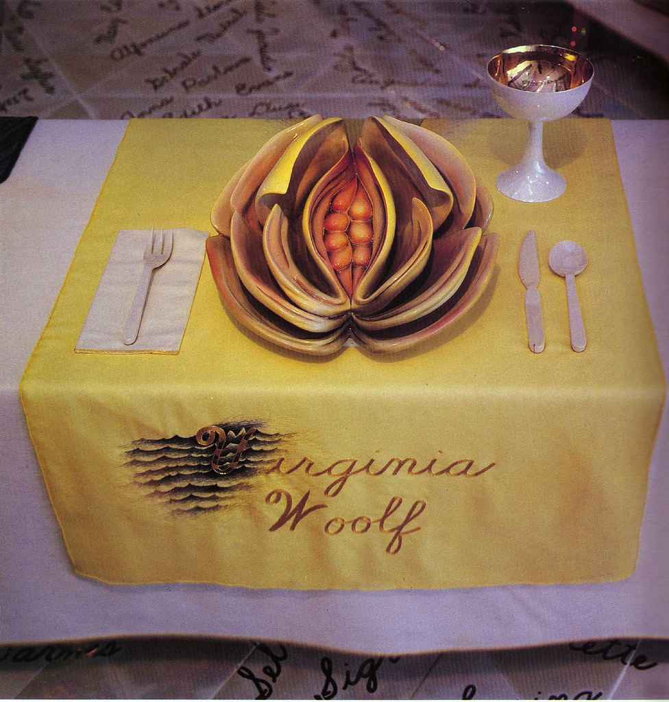 Judy Chicago, The Dinner Party, Virginia Woolf Place Setti