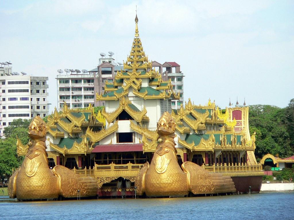 Floating Restaurant Yangon Rangoon Myanmar Burma Flickr