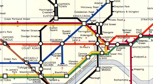 Detail From Harold Hutchinson S Hated Tube Map 1963 Flickr