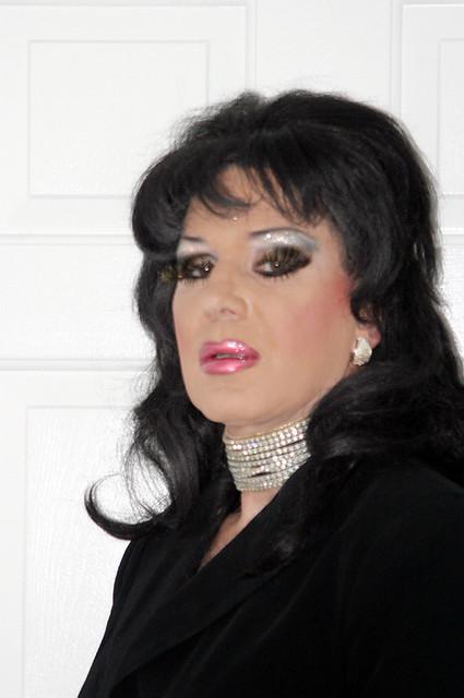 Wearing heavy eye makeup fetish can