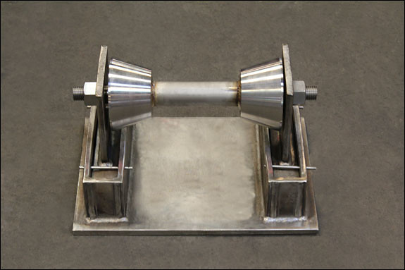 Stainless Steel Roller Stands Custom Designed for a Wastewater Treatment Plant