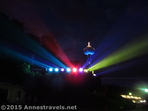 The lights that illuminate the falls, Niagara Falls, Canada