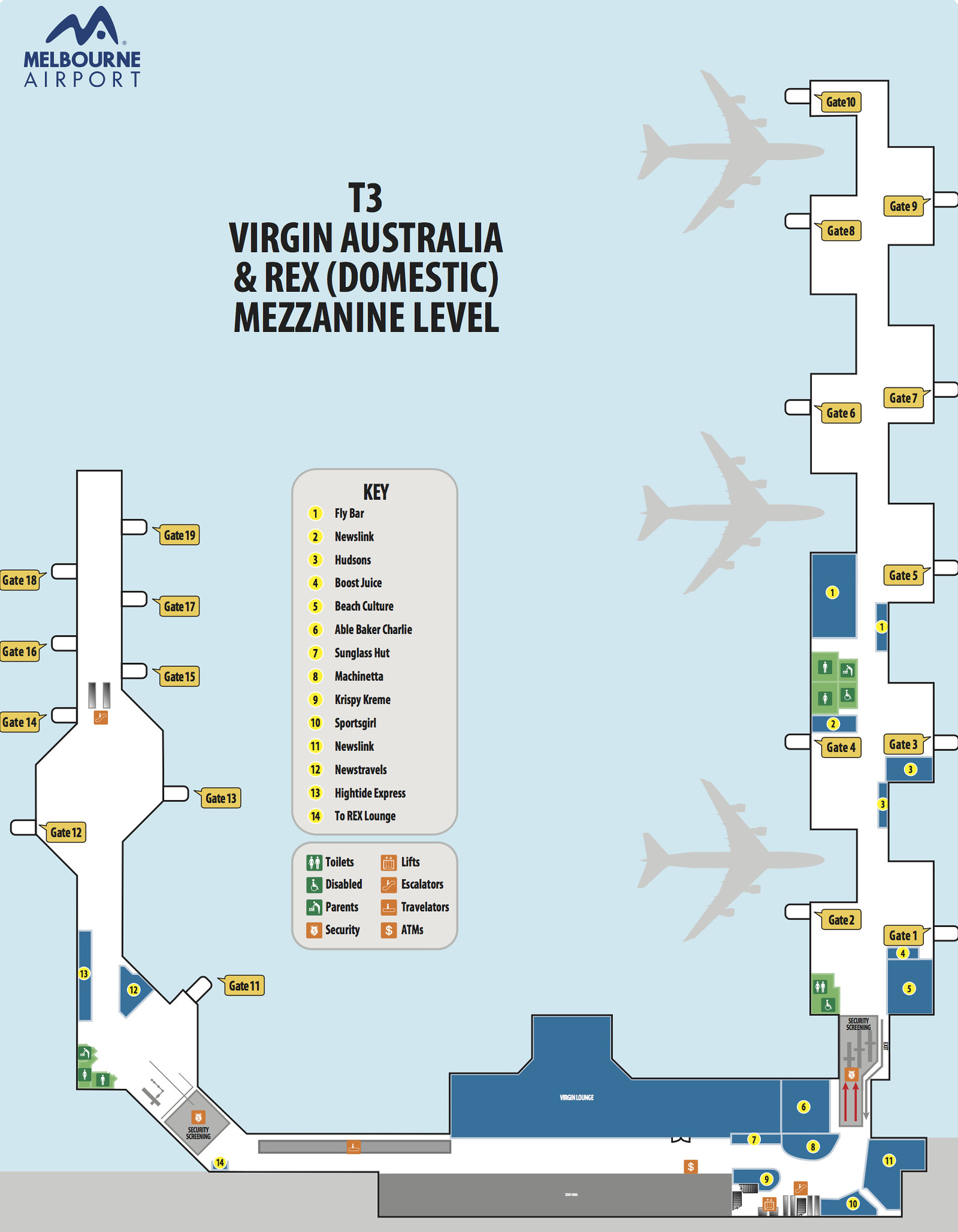 ⑦melbourne-airport-maps--t3-gates-(arrivals-and-depatures)-