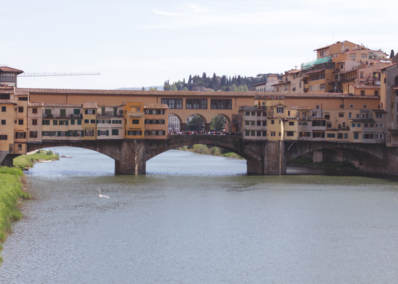 View of Ponte Vecchio Bridge Florence, Bumpkin Betty