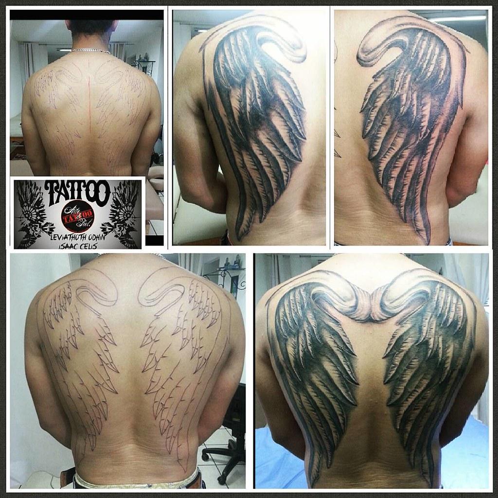 4 Sesiones Proceso De Alas Espalda Tattooarteypiel Tat Flickr