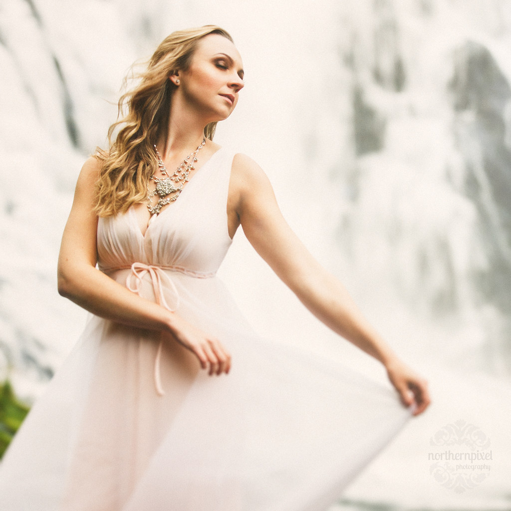 Waterfall Fashion Photography