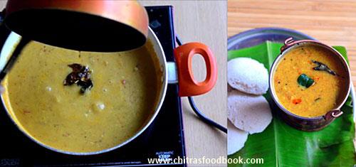 Annapoorna hotel sambar recipe