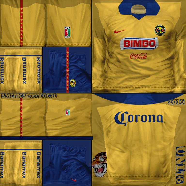 brand new efb69 5d764 Club América 2006 - Kits FIFA SOCCER 07