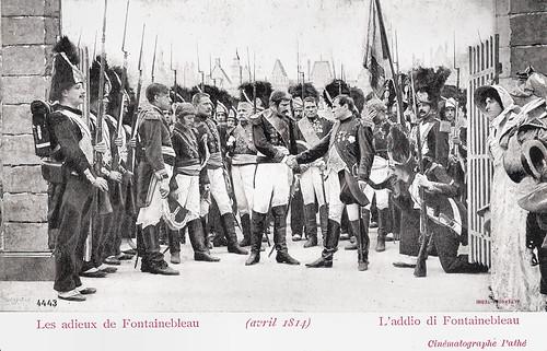 Les adieux de Fontainebleau (avril 1814)