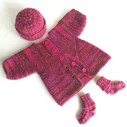 Baby Surprise Jacket, Hat, and Socks