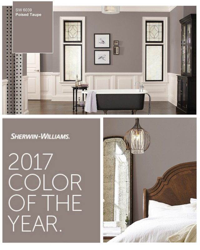 Poised Taupe Sherwin William's 2017 Color of the Year